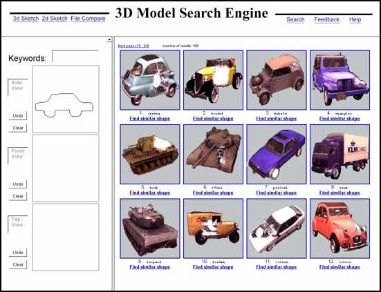 Researchers Develop 3D Search Engines