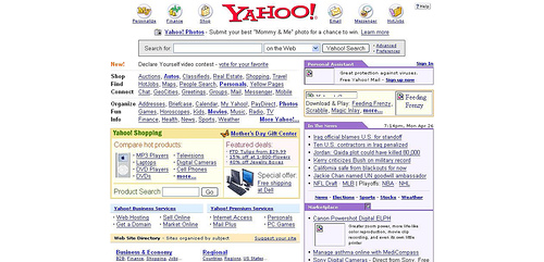 Yahoo's New Home Page, Features & Screenshots