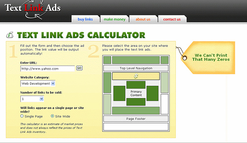 Measuring Link Value with Text Link Ads