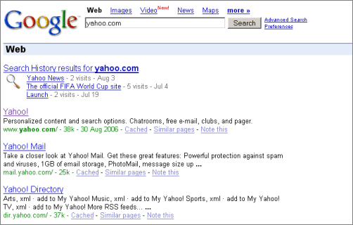 Google Changes Domain Name Search Results