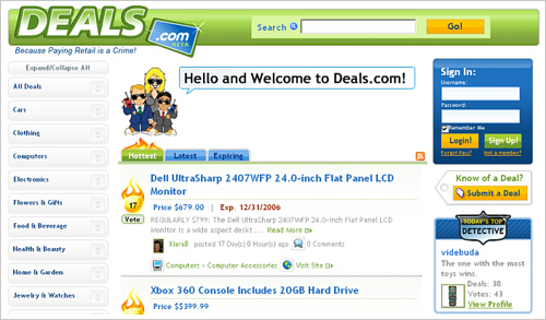 Deals.com : Social Media Meets Couponing