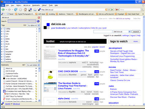 del.icio.us Firefox extension