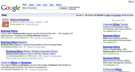 Google Book Image in SERPs