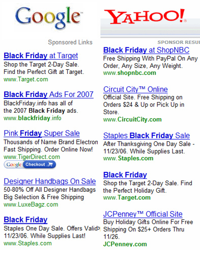 Black Friday Sales Search Online Shopping