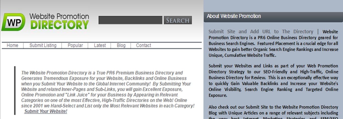 Website Promotion Directory