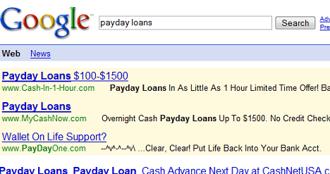 PayDay One Ad