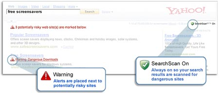 Yahoo and McAfee Offer a Safer Way to Search with SearchScan
