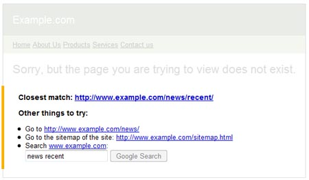 Google Webmaster Central Makes 404 More Useful
