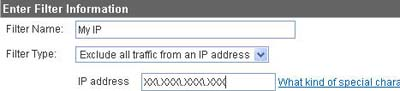 Exclude internal traffic