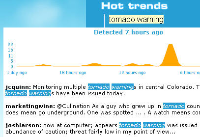 Twitscoop: hot Twitter trends