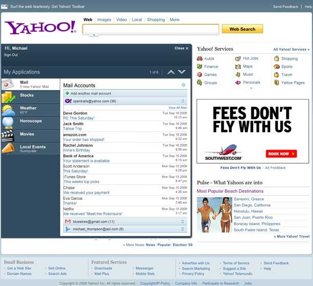 "Yahoo Preps Up a ""More Open"" Homepage"