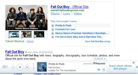 Yahoo-Rhapsody Team Up Brings Music to Search