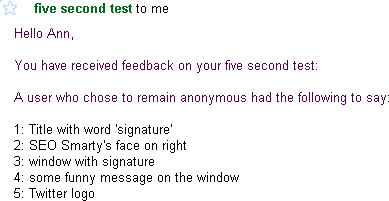 Five Second Usability Test