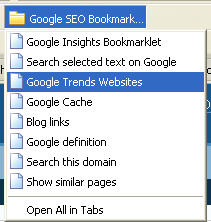 Google bookmarklets - folder
