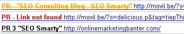 SEO link analysis
