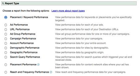 Google AdWords Reports