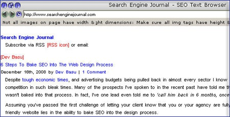 Free Spider Simulation Tools to Evaluate a Web Page