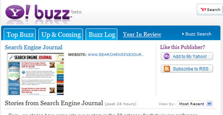 Yahoo! Buzz Rolls Out New Publisher Landing Pages