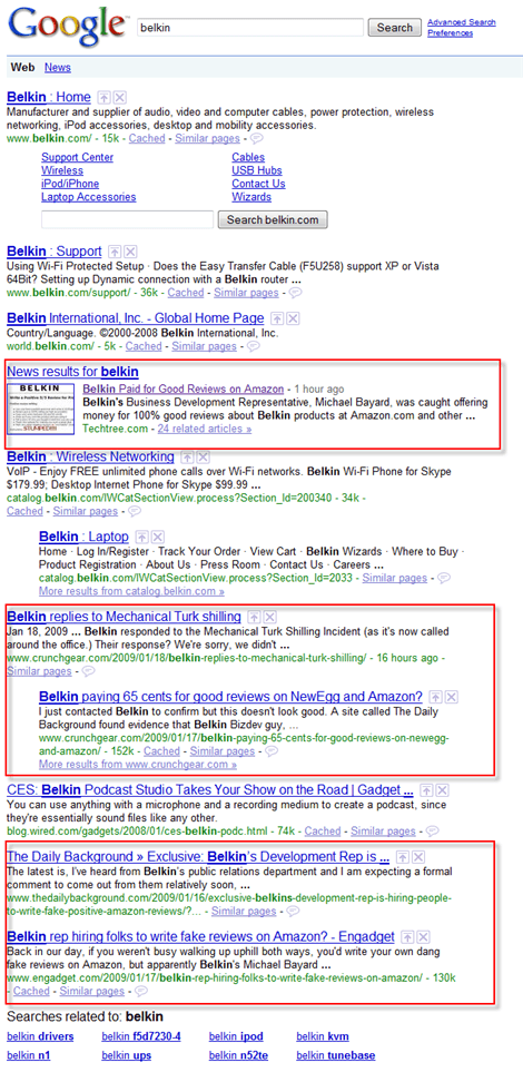 Belkin Caught Buying Fake Consumer Reviews - Search Engine