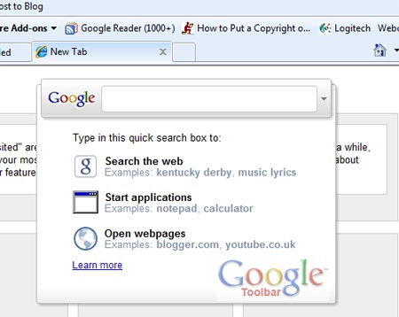Google Toolbar 6 Rolls Out QSB and New Tab Page Feature