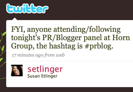 Hashtags: live-blogging