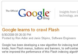 Flash & Search Engines : Indexed in a Flash