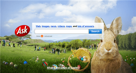 No Happy Easter Love from Google or Yahoo