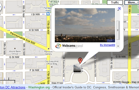 Google Maps Adds Over 9000 Webcams