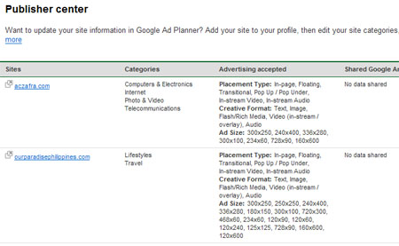 Google Launches AdSense Ad Planner Publisher Center