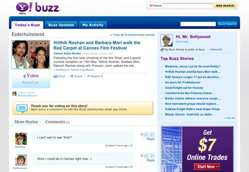Yahoo Buzz Gets a Facelift, Goes to India Too