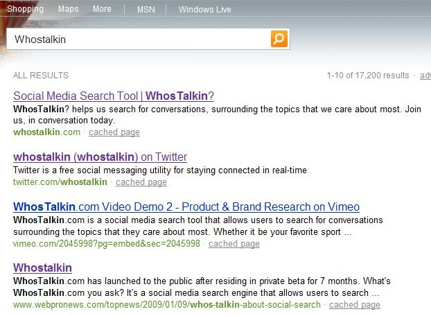Bing results for Whostalkin