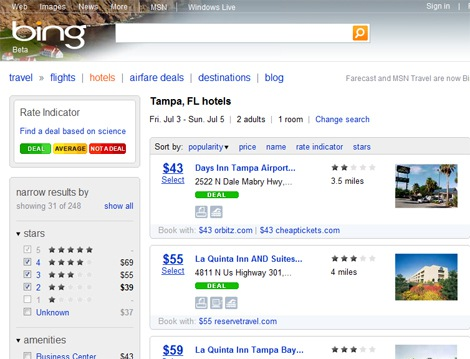 Did Bing Copy Kayak's Travel Search Portal?