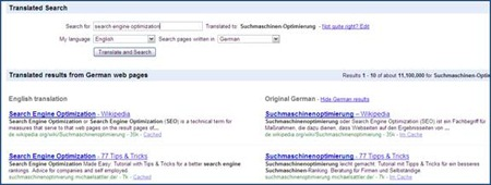 Google Translate: Web Page Translation Tools