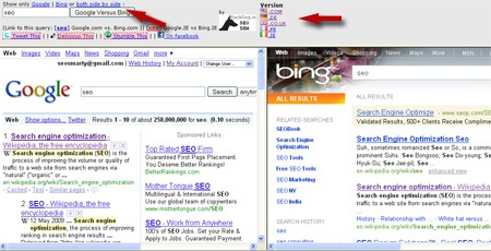 3 Tools to Compare Google and Bing Search Results