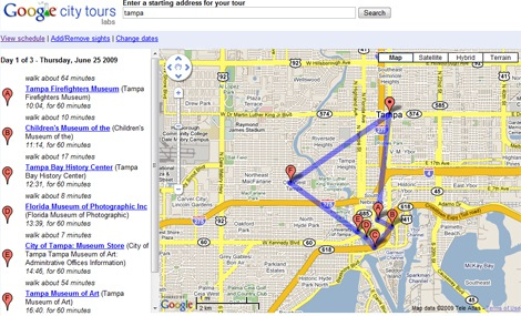 Google City Tours Experiments with Travel Vertical