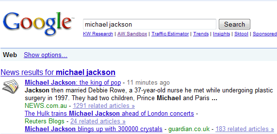 Michael Jackson Dead : Microsoft Bing FAILS in Coverage, Twitter and Facebook Break News