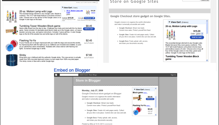 Create an Online Store in a Snap Using Google Docs and Checkout