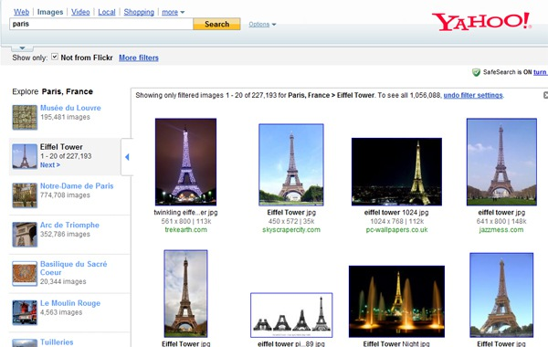 Yahoo! Rolls Out Travel Image Search Refiner