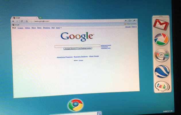 Another Google Chrome OS Screenshot Shows Up, This Time it's Ugly