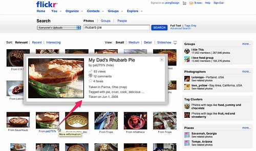 Flickr Enhances Its Search Results Page