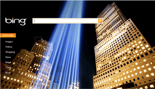 September 11th Honored by Bing & Ask.com