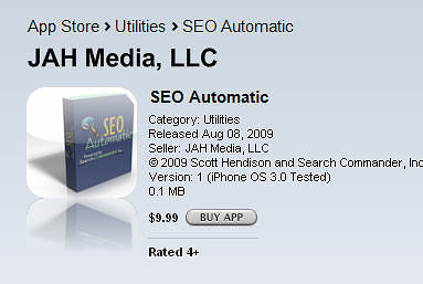 SEO Automatic Tool: Now for the iPhone