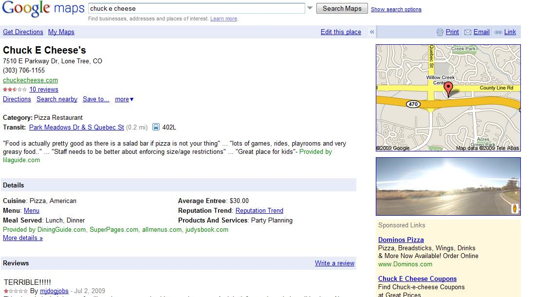 Introducing Place Pages for Google Maps