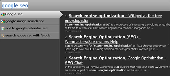 Speed up Your SEO Tasks with Ubiquity FireFox Addon