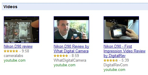 YouTube Video Reviews Now Part of Google Product Search