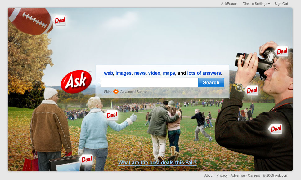 AskDeals Homepage on Oct 6 (1)