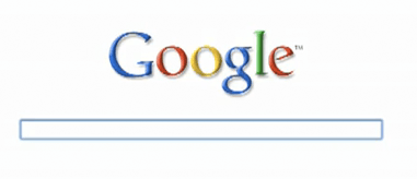 Google Experiments on a Fading Minimalist Homepage