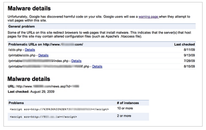 Fetch as Googlebot and Malware Details in Webmaster Tools Labs