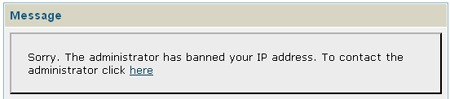 IP address banning