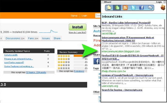 iWeavr: Look for Related Pages and Backlinks